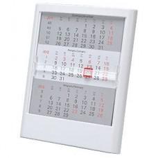 Календарь настольный на 2 года; белый; 12,5х16 см; пластик; тампопечать, шелкография