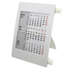 Календарь настольный на 2 года; белый; 18х11 см; пластик; тампопечать, шелкография