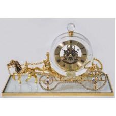 Интерьерные часы «Карета» прозрачный/золотистый