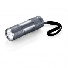 Алюминиевый фонарик Quattro, серый