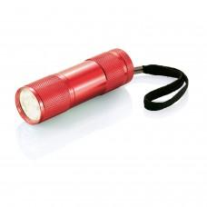 Алюминиевый фонарик Quattro, красный