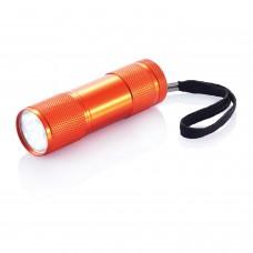 Алюминиевый фонарик Quattro, оранжевый